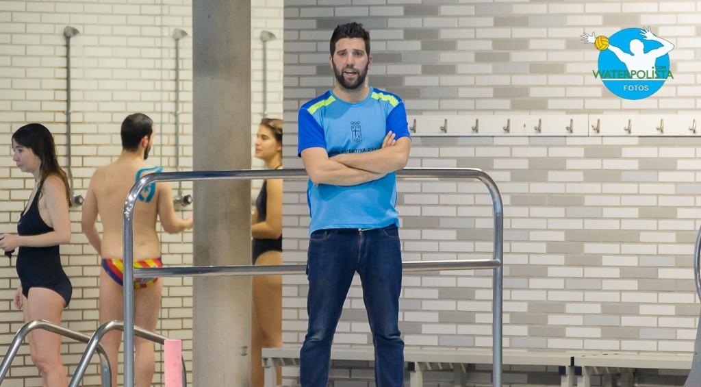 El entrenador del Horta atendió a WATERPOLISTA.com tras el ascenso / ATELIER PHOTO