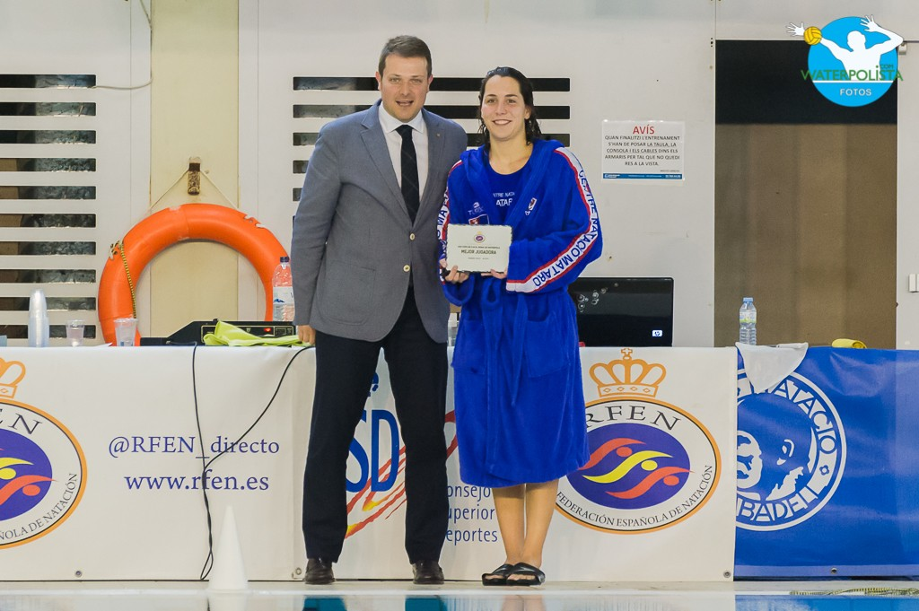 La jugadora madrileña de La Sirena CN Mataró fue elegida MVP de Copa / ATELIER PHOTO