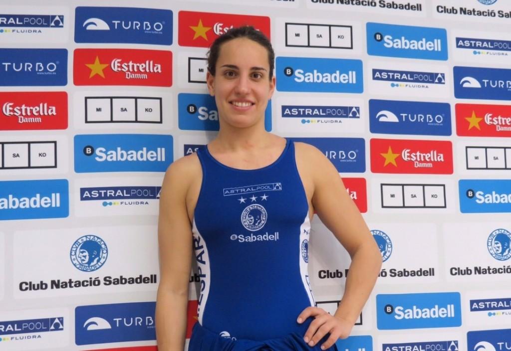 La jugadora del Sabadell pasó por zona mixta después de ganar en Cuartos / G.A.