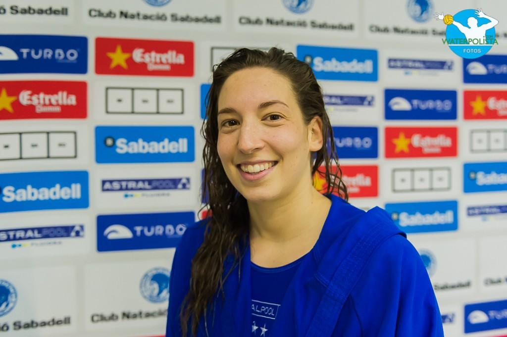 La portera del Sabadell atendió a WATERPOLISTA.com en zona mixta / ATELIER PHOTO