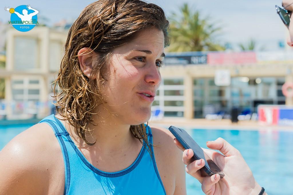 La portera atendió a WATERPOLISTA.com en su último partido oficial / ATELIER PHOTO
