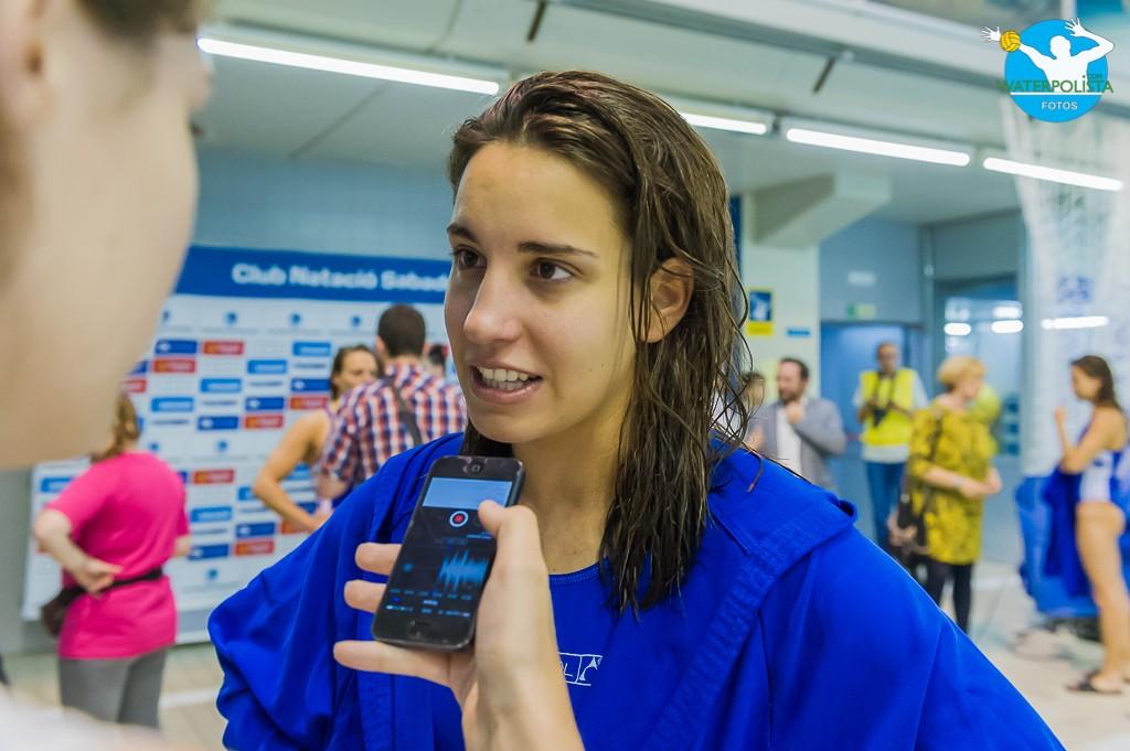 La jugadora del Sabadell atendió a WATERPOLISTA.com tras consumar el título de Liga / ATELIER PHOTO