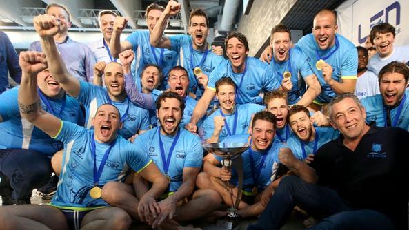 El equipo italiano después de vencer al Sintez Kazan en la final / V.K.