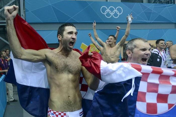 Josip Pavic celebrado el oro olímpico en los Juegos de Londres 2012 / V.K.