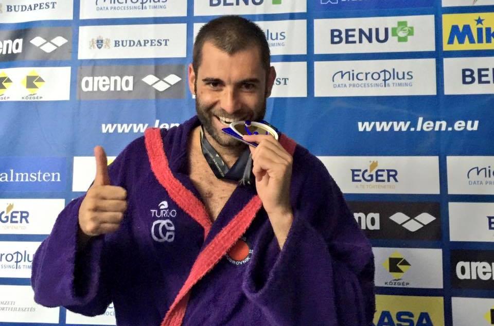 El jugador español del Jug en zona mixta tras conseguir el título / MARÍA GUIXA