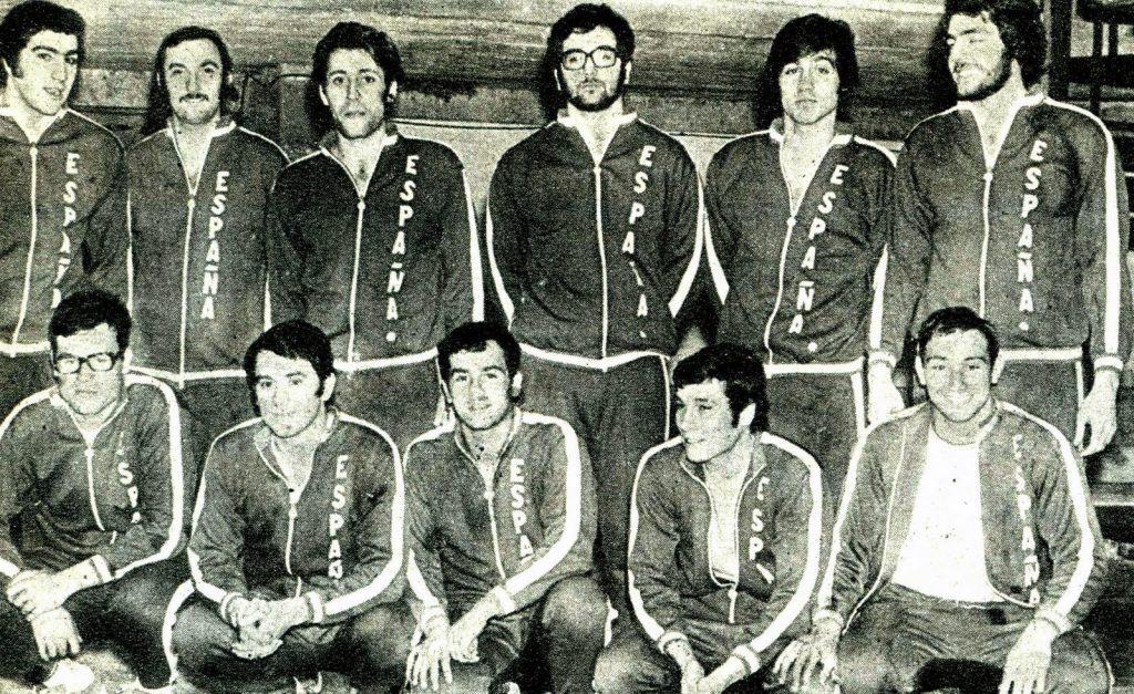 La selección española que participó en los Juegos de Munich en 1972 formada por Bestit, Rubio, Sans, Jane, Canovas, Soler, Monsonis, Puigdevall, Ibern, Padros y Llimos / W.L.