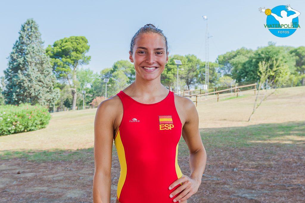 La jugadora de La Sirena CN Mataró posó para WATERPOLISTA.com / ATELIER PHOTO