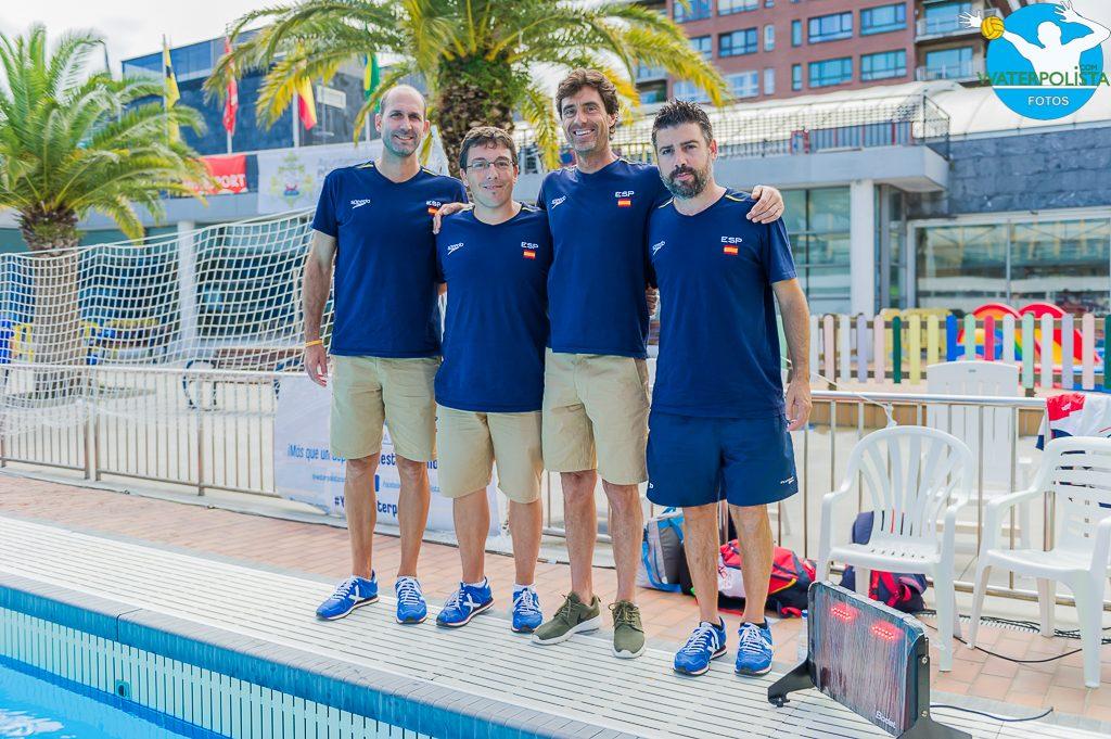 Angel Luis Andreo, Jordi Valls, Miki Oca y Oscar Mucnunill forman el staff técnico de España / ATELIER PHOTO