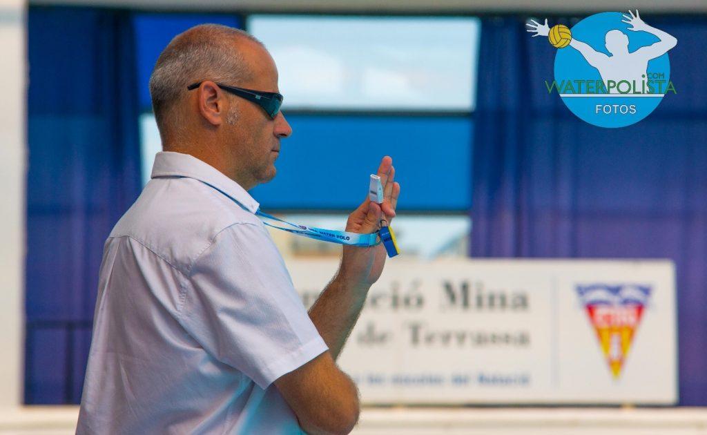 El colegiado olotense durante el Campeonato de España celebrado en Terrassa / BILLY RAMON
