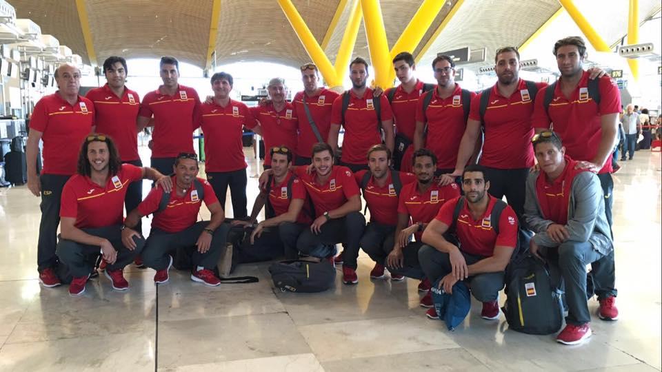 La selección española en el Aeropuerto de Madrid antes de partir hacia Río / A.E.