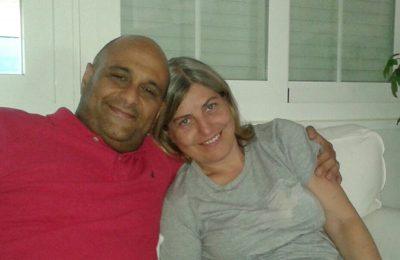 Antonio Hernández junto a su mujer Astrid hace unas semanas / V.K.