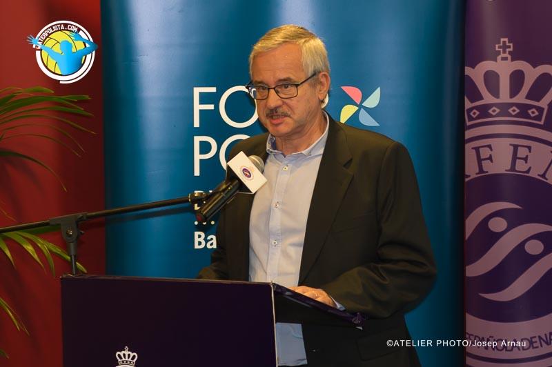 Gaspar Ventura durante la presentación de Ligas celebrada ayer jueves / JOSEP ARNAU (ATELIER PHOTO)