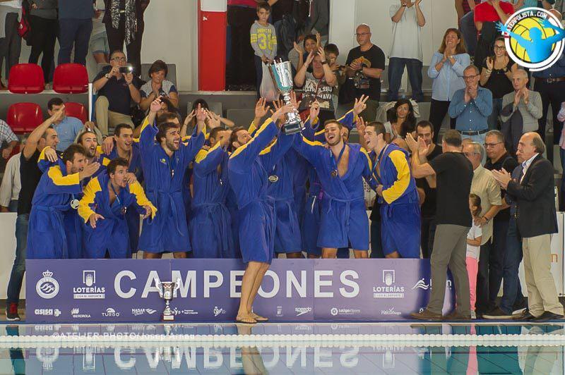 El CNAB después de proclamarse campeón de la Supercopa en Terrassa / JOSEP ARNAU (ATELIER PHOTO)