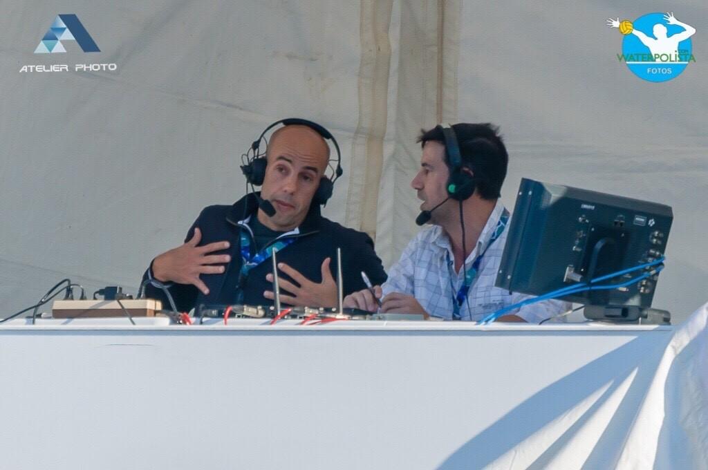 Dani Ballart y Juan Carlos García durante la retransmisión de un partido / ATELIER PHOTO